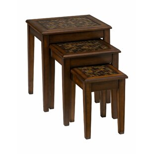 Ivybridge 3 Piece Nesting Table by Fleur De Lis Living