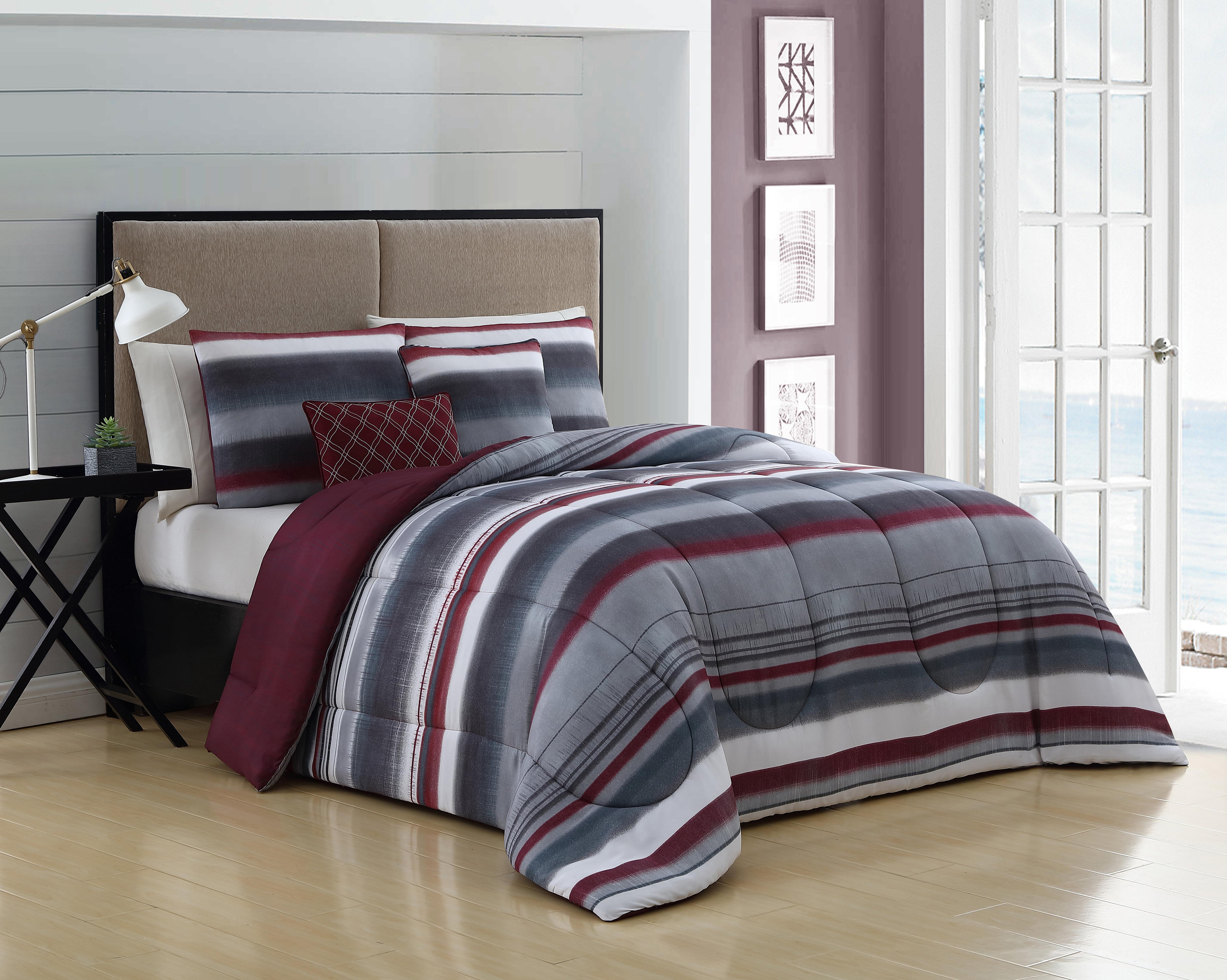 Ebern Designs Hajek Reversible Comforter Set Reviews Wayfair