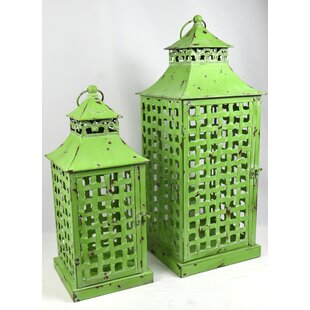 Great Price Metal Lantern Set (Set of 2) By Bloomsbury Market