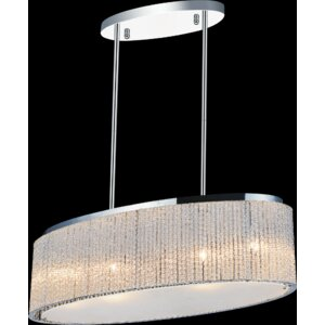 5-Light LED Drum Chandelier