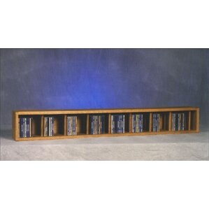 100 Series 106 CD Multimedia Tabletop Storage Rack by Wood Shed