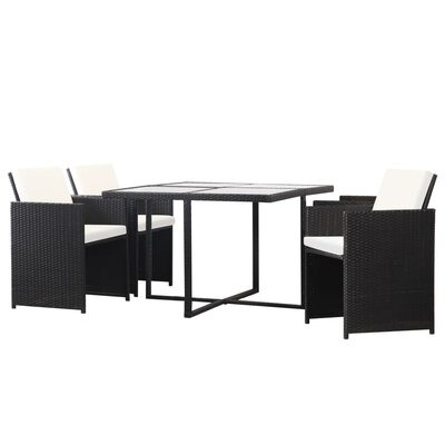 Leacross 5 Piece Dining Set With Cushions by Ebern Designs Reviews