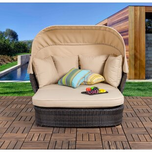 Bay Isle Home Tolbert Wicker Patio Daybed with Ottoman