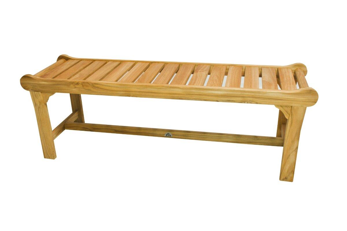 Wood Park Bench - Cozy California Farmhouse Style {Home Decor Inspiration}