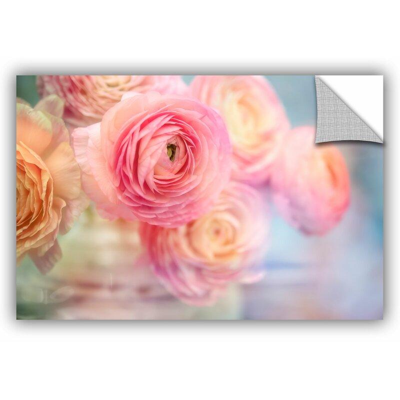 House Of Hampton Glass Flowers Wall Decal Reviews Wayfair