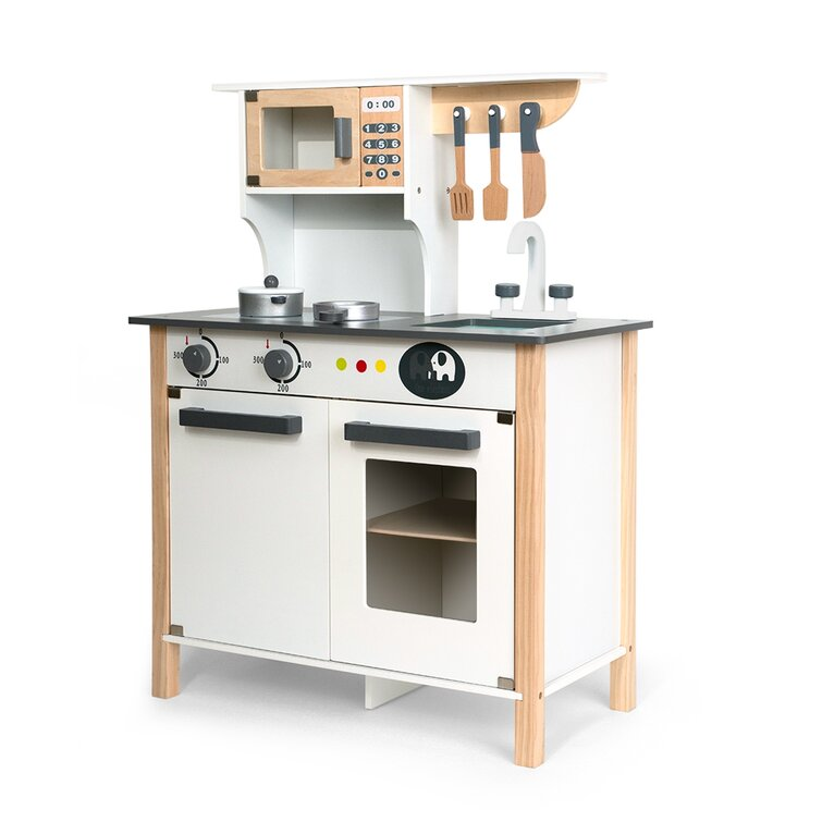 Fedigorlocn Pretend Wooden Kitchen Playset For Kids And Children Gifts For New Year Christmas And Birthday White Wayfair