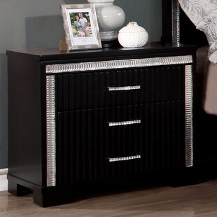 Viridian 3 Drawer Nightstand by House of Hampton