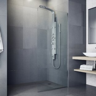 Mateo Volume Control Shower Panel System with Hose- Hand Shower Six Body Sprays and Shower Head