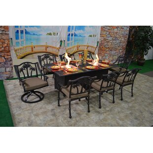 Bayou Breeze Keefe Tree 9 Piece Dining Set with Cushions