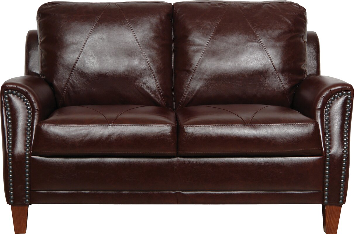 Bryce white italian leather sofa and loveseat 15814565 overstock -  Sofa Default Name Mark Leather Loveseat