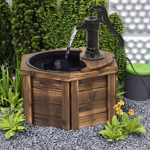 Gasol Wood Water Fountain By Sol 72 Outdoor