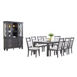 Almon 11 Piece Solid Wood Dining Set by Rosalind Wheeler