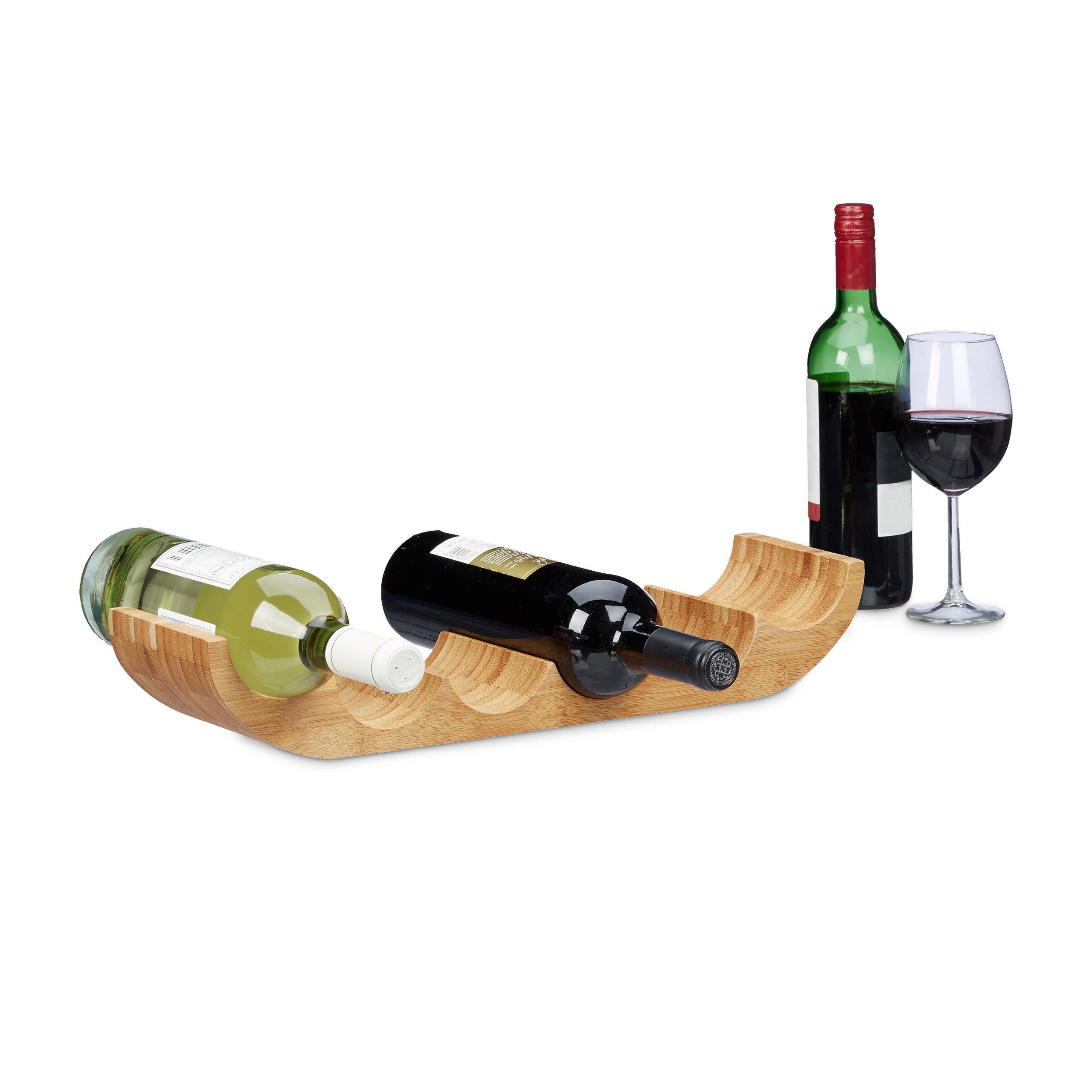 Wine Racks Weinstander Bambus 3 Flaschen Weinregal Weinflaschenhalter Standregal Weinablage Luxliga Lu