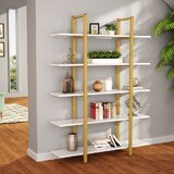 Baddeley 70 H x 47 W Metal Etagere Bookcase by 17 Stories