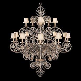 Fine Art Lamps A Midsummer Nights Dream 15-Light Shaded Chandelier