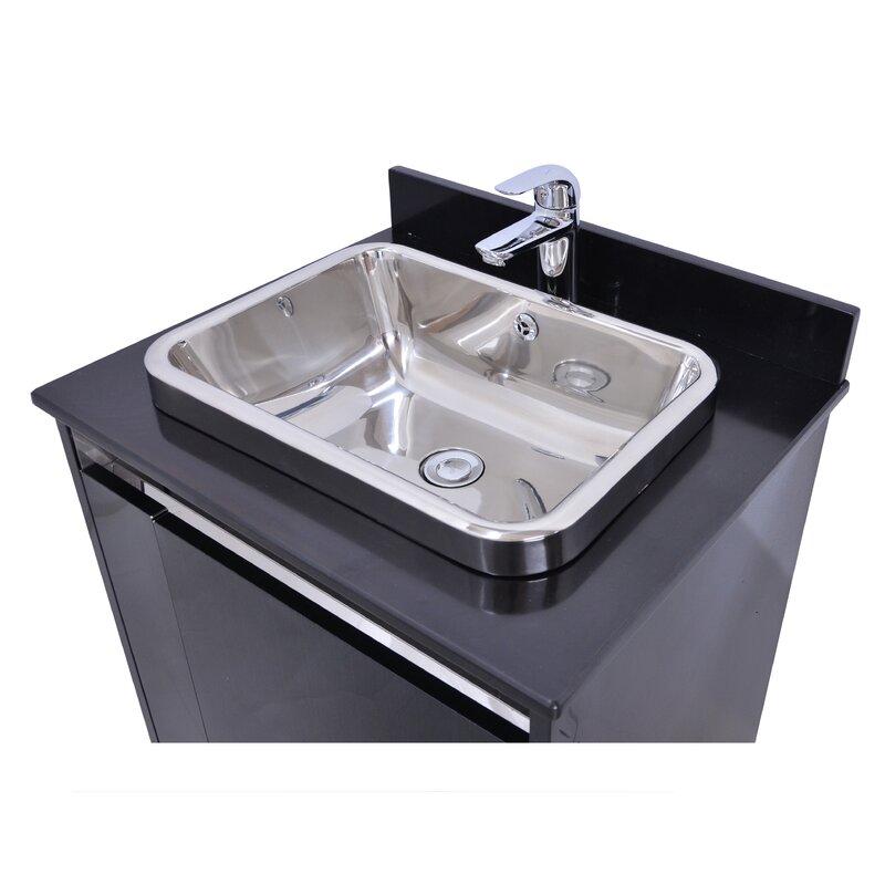 Orren Ellis Spears 24 Single Bathroom Vanity With Faucet Wayfair