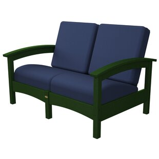 Trex Outdoor Rockport Club Deep Seating Sofa with Cushions