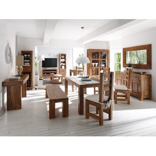 Dining Set with 4 Chairs 1 Bench by Massivum