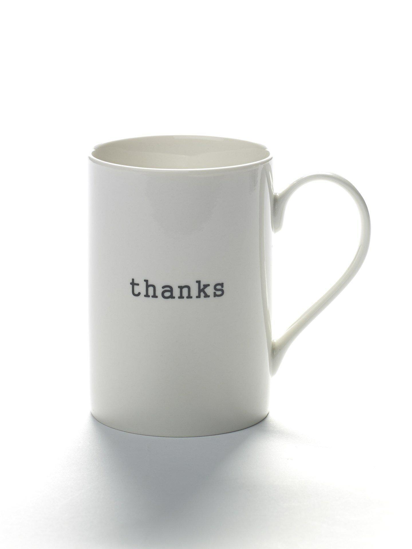 Ebern Designs Isleton Thanks Coffee Mug Wayfair