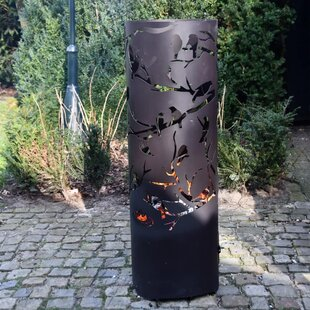 Barris Steel Wood Burning Outdoor Fireplace By Sol 72 Outdoor