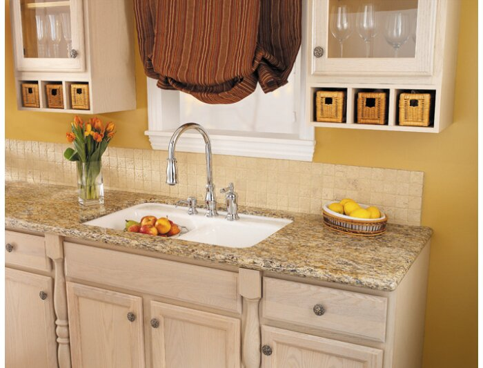Pfister Hanover Pull Out Single Handle Kitchen Faucet with Soap ...