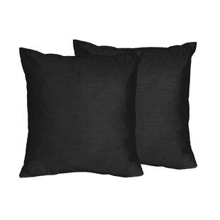Chevron Solid Throw Pillows (Set of 2)