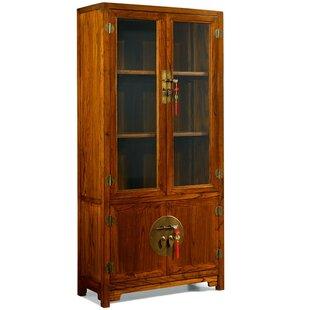 Solid Elm Display Cabinet By Bloomsbury Market