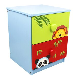 Sunny Safari 2 Drawer Nightstand by Fantasy Fields