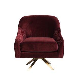 Everly Quinn swivel Barrel Chair