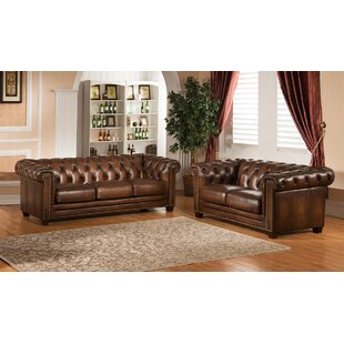 Compare prices Dusty 2 Piece Leather Living Room Set by Canora Grey Reviews (2019) & Buyer's Guide