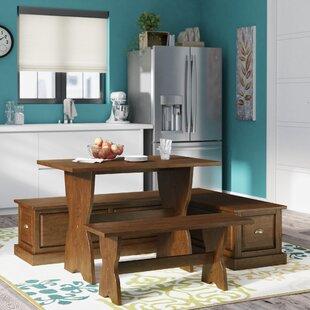 Three Posts Dearborn 3 Piece Breakfast Nook Dining Set