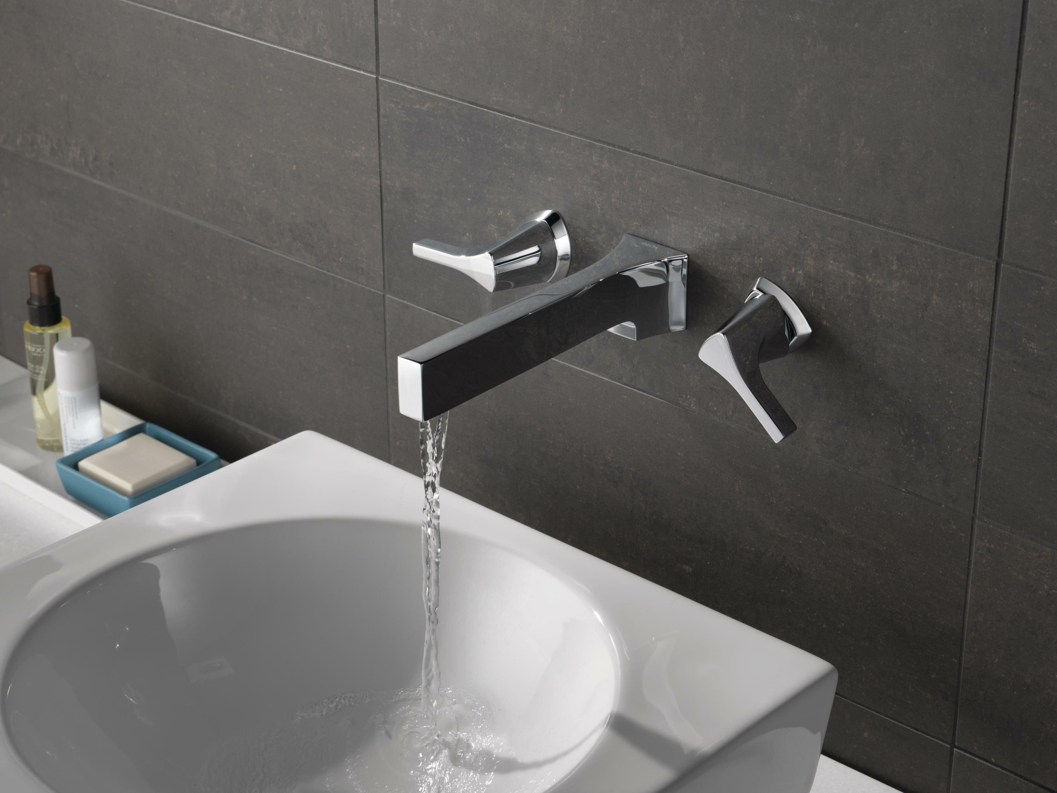Delta Zura Wall Mount Bathroom Faucet   Wayfair