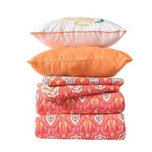 Pollman Printed 5 Piece Reversible Quilt Set