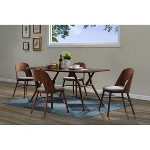 Kirsten 5 Piece Solid Wood Dining Set Corrigan Studio
