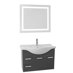 Phinex 32 Single Bathroom Vanity Set with Mirror by Nameeks Vanities