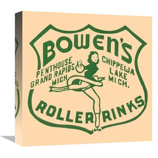 8a8aa98d690  Bowen s Roller Rinks  Vintage Advertisement Print on Canvas