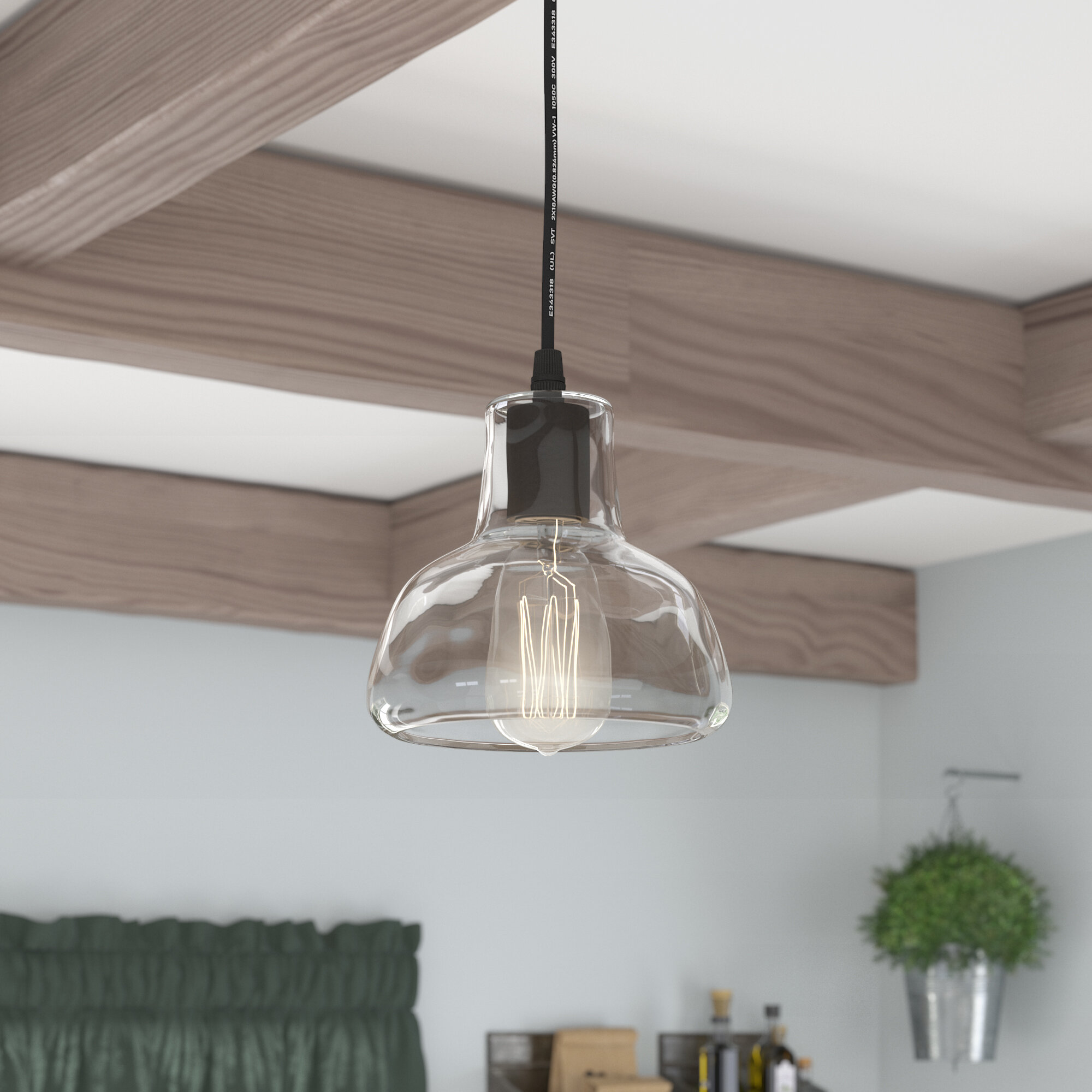 Laurel foundry modern farmhouse bouvet 1 light dome pendant reviews wayfair