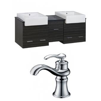 American Imaginations Xena Farmhouse 62 Double Bathroom Vanity Set Wayfair
