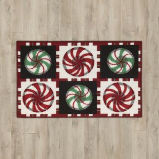 Best Price Christmas Black/White Area Rug By The Holiday Aisle