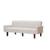 Anevaeh 74.8 Wide Round Arm Convertible Sofa by Ebern Designs