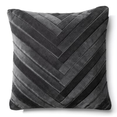 Brayden Studio Northwick Cotton Pillow Cover Color: Dark Gray