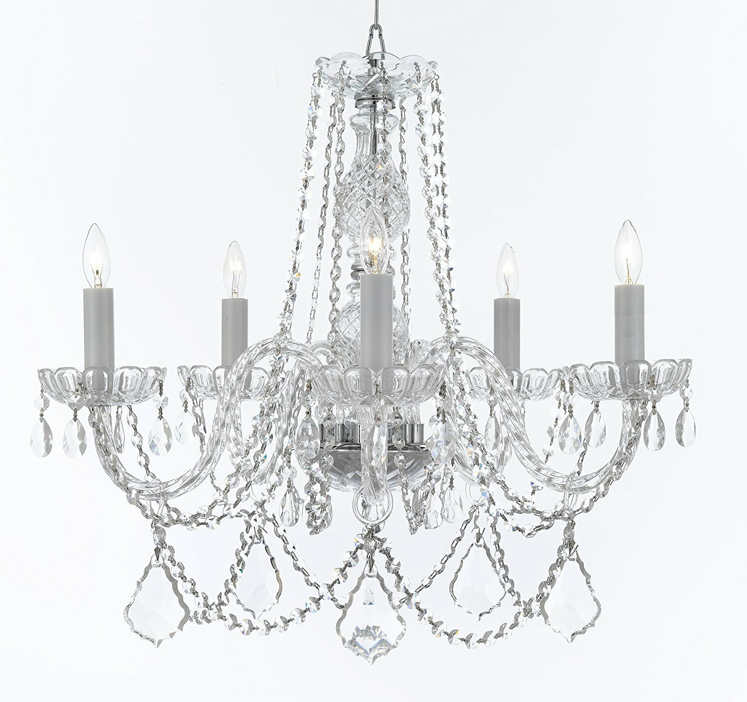 Rosdorf Park Bowerville 5 Light Crystal Chandelier with Chain
