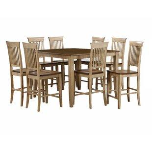 Huerfano Valley 9 Piece Adjustable Pub Table Set