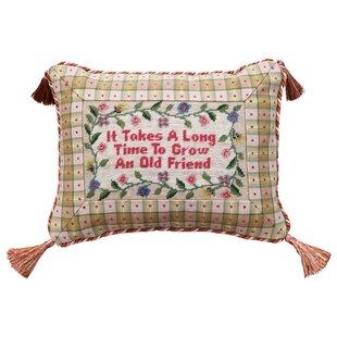 Floral Needlepoint Pillow Wayfair