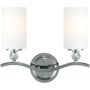 Best Reviews Bibeau 2-Light Vanity Light By Lark Manor