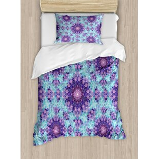 East Urban Home Geometric Mosaic Fractal Indian Sign of Universe Graphic Art Duvet Set