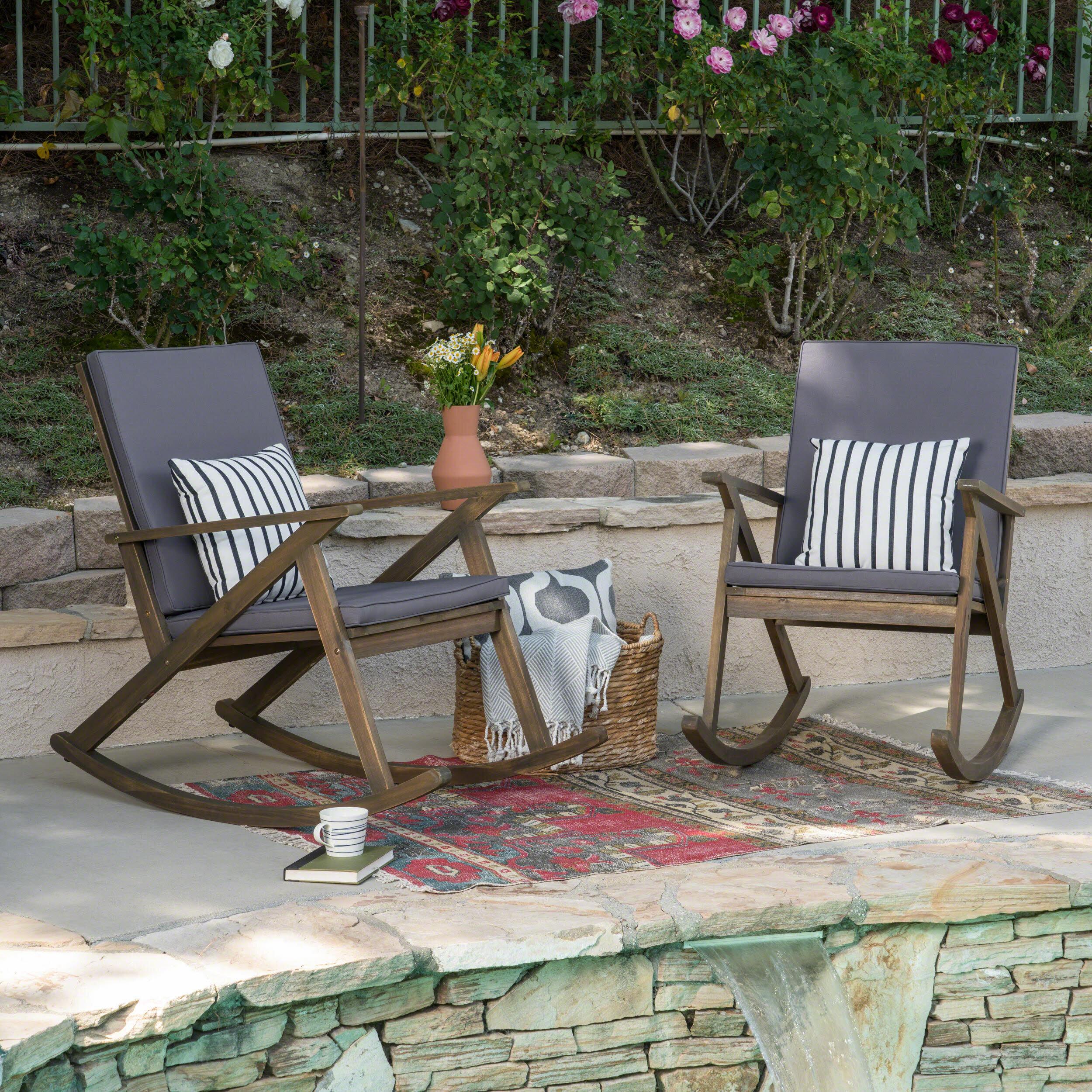 Union Rustic Ossu Outdoor Rocking Chair