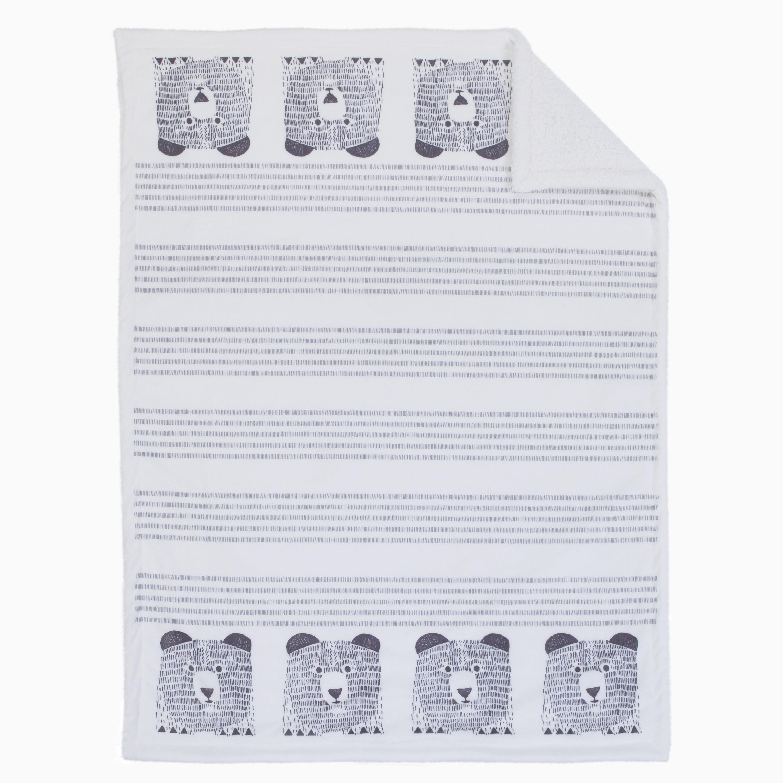 DwellStudio Bear Hugs Double Sided Super Soft Velboa Sherpa Baby Blanket