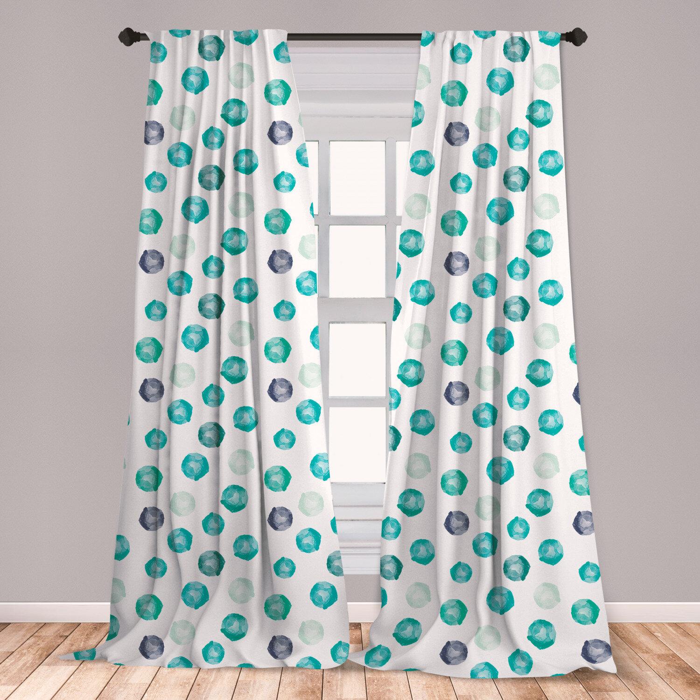 Ambesonne Aqua Window Curtains