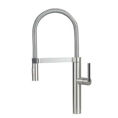 Blanco BlancoCulina Semi-Professional Kitchen Faucet with Pull-Out Sprayer Color: Satin Nickel